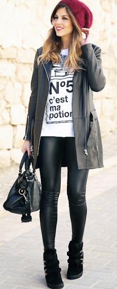 Как правильно носить леггинсы