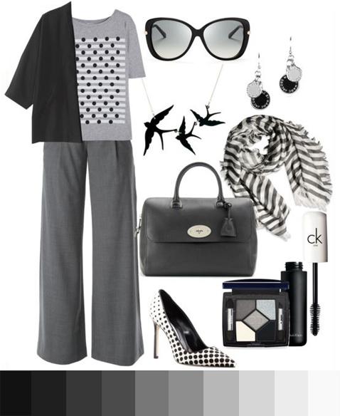 Чёрно-белый монохромный лук