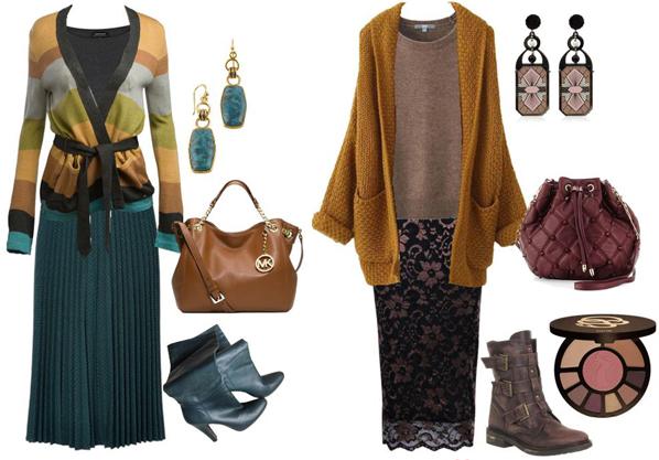 Как носить зимой летние юбки. Юбка и кардиган
