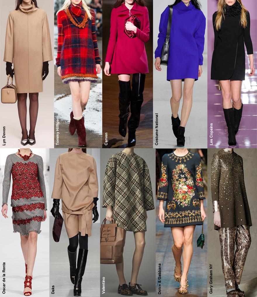 моные платья осень зима 2012