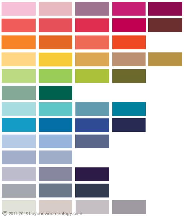 Модные цвета Весна-Лето 2015