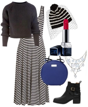 Как носить зимой летние платья