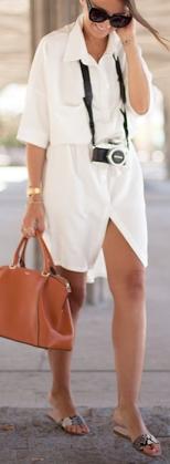 С какой обувью носить платье-рубашку