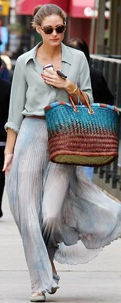 Пляжная сумка-корзинка