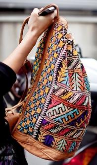 Пляжная сумка в этническом стиле