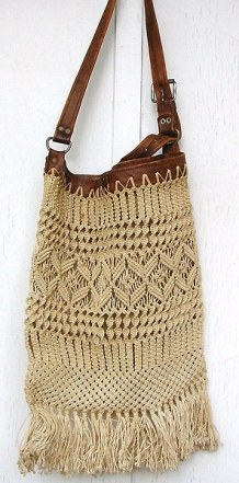 Пляжная сумка в технике макраме