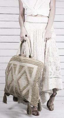 Пляжные вязаные сумки