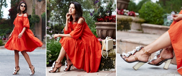 Look of the day:  lady in red
