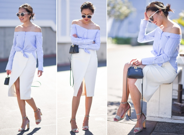 Look of the day: открытые плечи