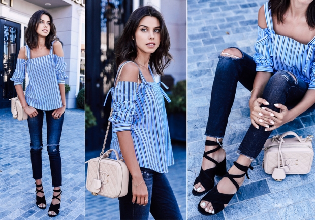 Look of the day: off the shoulder top
